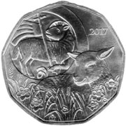 5 euros Agneau de Pâques (argent) – avers