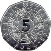 5 euros Agneau de Pâques (argent) – revers