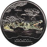 3 euros Le crocodile -  revers