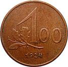 100 kronen – revers