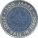 25 euros Hall en Tyrol – revers