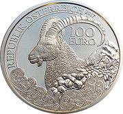 100 euros Bouquetin -  avers