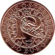 10 euros Archange Raphaël (cuivre) – avers