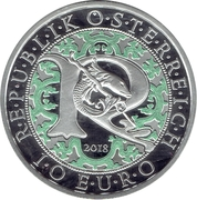 10 euros Archange Raphaël (argent, coloré) – avers