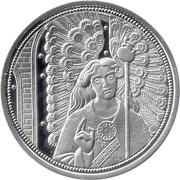 10 euros Archange Raphaël (argent, coloré) – revers