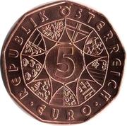 5 euros Porcelaine de Vienne (cuivre) -  avers