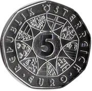 5 euros Porcelaine de Vienne (argent) -  avers