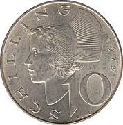 10 schilling (argent) – revers