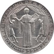 25 schilling Théatre national -  revers