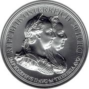 20 euros Marie-Thérèse d'Autriche (prudence) – avers