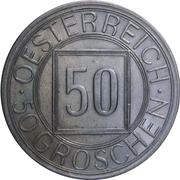 """50 groschen (""""nachtschilling"""") – avers"""