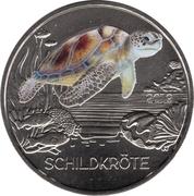 3 euros La tortue -  revers