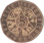 5 euros Réveil du printemps (cuivre) -  avers