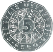 5 euros Réveil du printemps (argent) -  avers