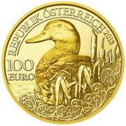 100 euros Canard colvert -  avers