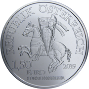 1½ euros Léopold V d'Autriche – avers