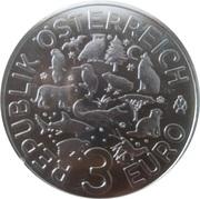 3 euros La Loutre -  avers