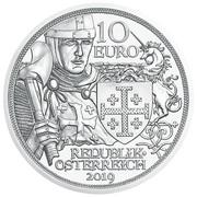 10 euros Godefroy de Bouillon (argent) -  avers