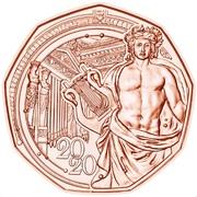 5 euros Nouvelle année 2020 (cuivre) -  revers