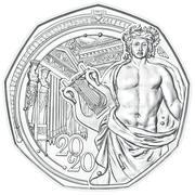 5 euros Nouvelle année 2020 (argent) -  revers