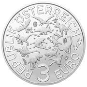 3 euros Lézard de la Meuse – avers