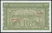 10 Schilling (Allied Military Authority) -  avers