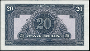 20 Schilling (Allied Military Authority) -  revers