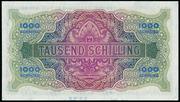 1000 Schilling (Allied Military Authority) -  revers