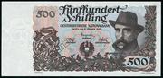 500 Schilling – avers