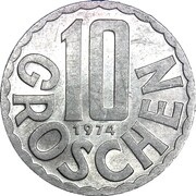 10 groschen – revers