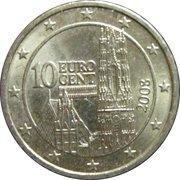 10 cents d'euro (2e carte) -  avers