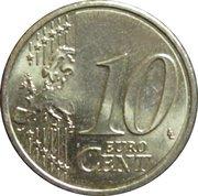 10 cents d'euro (2e carte) -  revers