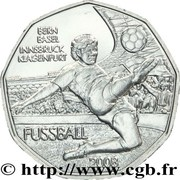 5 euros Football (l'attaque) -  avers