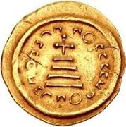 1 solidus Au nom d'Héraclius, 610-641 & Héraclius Constantin, 641 (croix avec bouts arrondies) -  revers