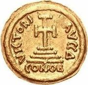 1 solidus Au nom d'Héraclius, 610-641 & Héraclius Constantin, 641 (croix avec bouts plats; buste droit court) – revers