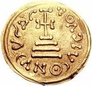 1 solidus Au nom d'Héraclius, 610-641 & Héraclius Constantin, 641 (bustes en baisse) – revers