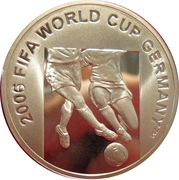 50 manat (Coupe du monde de football Allemagne 2006) – revers