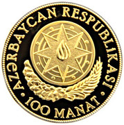 100 Manat (State independence 20) – avers