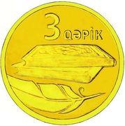 3 Qəpik (Gold) – revers