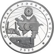 50 manat (Karabakh) – revers