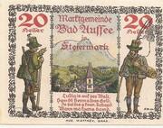 20 Heller (Bad Aussee) – revers
