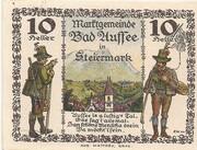 10 Heller (Bad Aussee) – revers