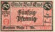 50 Pfennig (Stadt Bad Ems) – avers
