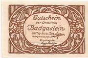 30 Heller (Bad Gastein) – revers