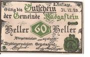 60 Heller (Bad Gastein) -  avers