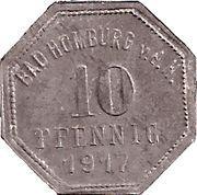 10 pfennig - Bad Homburg vor der Höhe – revers