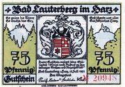 75 Pfennig (Bad Lauterberg im Harz) – avers