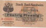 50 Pfennig (Bad Nauheim) – avers