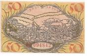 50 Pfennig (Baden-Baden) – revers