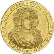 1 Ducat - Ludwig Georg (Peace of Rastatt) – avers